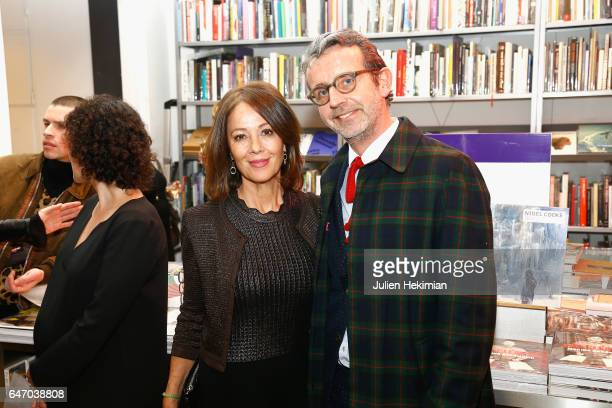 Brenda Altmayer and a guest attend the launch and book signing of Mastermind Magazine as part of Paris Fashion Week Womenswear Fall/Winter 2017/2018...