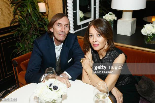 Brenda Altmayer and a guest attend the Mastermind Magazine launch dinner as part of Paris Fashion Week Womenswear Fall/Winter 2017/2018 at Loulou...