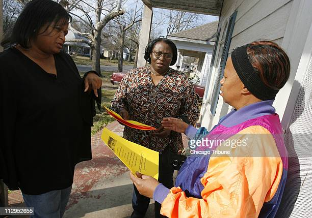 Brenda Cherry left a local civil rights activist along with Creola Cotton center speak with Paris Texas resident Carolyn King February 22 about a...