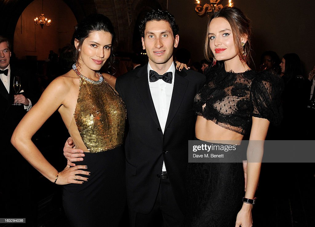 Brenda Costa, Karim Al-Fayed and Masha Markova attend The Jasmine Ball in aid of UNICEF's Children of Syria Emergency Appeal at One Mayfair on March 7, 2013 in London, England.