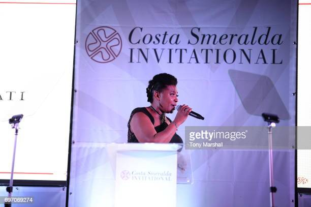 Brenda Edwards performs during The Costa Smeralda Invitational Gala Dinner at Cala di Volpe Hotel Costa Smeralda on June 17 2017 in Olbia Italy