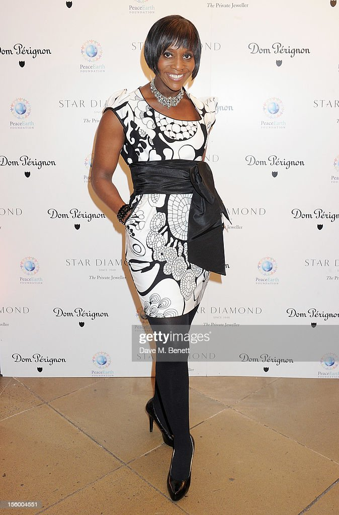 Brenda Emmanus attends the Place For Peace dinner co-hosted by Ella Krasner and Forest Whitaker to support the Peace Earth Foundation in association with Star Diamond at Banqueting House on November 10, 2012 in London, England.