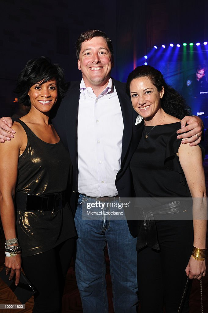 Brenda Freeman, Senior Vice President at Turner Walker Jacobs and Jill Shields attend the Adult Swim Upfront 2010 at Gotham Hall on May 19, 2010 in New York City. 19913_001_0034.JPG