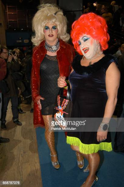 Brenda Gogo and Brandywine attend Jeremy Scott Fashion Show at Crobar on February 7 2004 in New York City