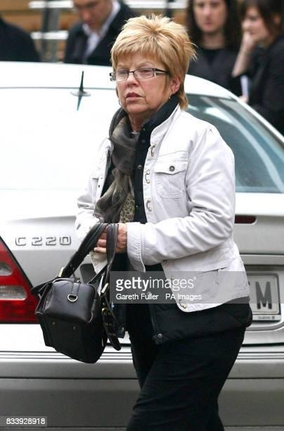 Brenda Howlett mother and grandmother arrives at the Tossa Beach Hotel in Tossa de Mar Spain where her son Symon Howlett and grandson Jay drowned...