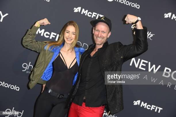 Brenda Huebscher and Daniel Termann attend the New Body Award By McFit Models on October 26 2017 in Berlin Germany