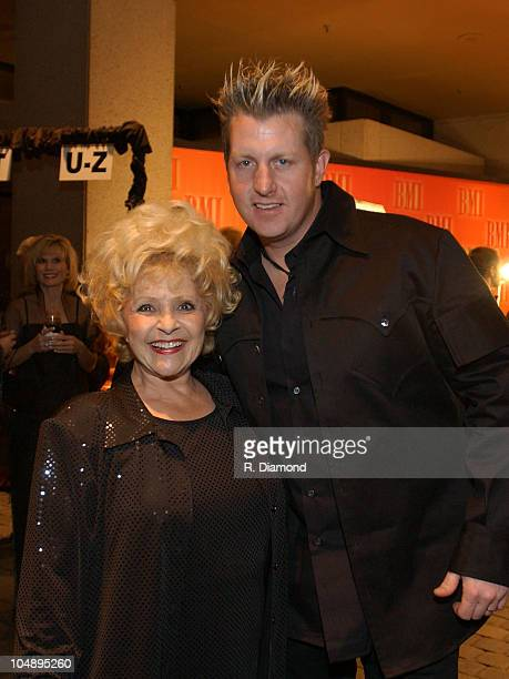 Brenda Lee and Gary LeVox of Rascal Flatts during 2003 BMI Country Music Awards at BMI Nashville in Nashville Tennessee United States