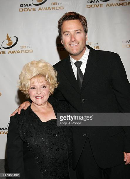 Brenda Lee and Michael W Smith during 38th Annual GMA DOVE Awards Press Room at Grand Old Opry in Nashville United States United States