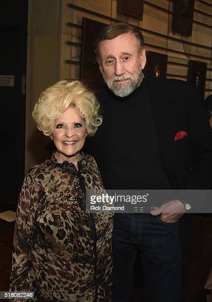 Brenda Lee and Ray Stevens attend CMA Presentation of The 2016 Country Music Hall Of Fame Inductees Announcement at the Country Music Hall of Fame...