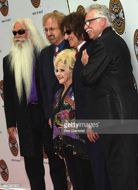 Brenda Lee and William Lee Golden Duane Allen Richard Sterban and Joe Bonsall attend The Country Music Hall of Fame 2015 Medallion Ceremony at the...