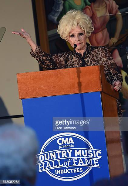 Brenda Lee hosts the CMA Presentation of The 2016 Country Music Hall Of Fame Inductees Announcement at the Country Music Hall of Fame and Museum on...
