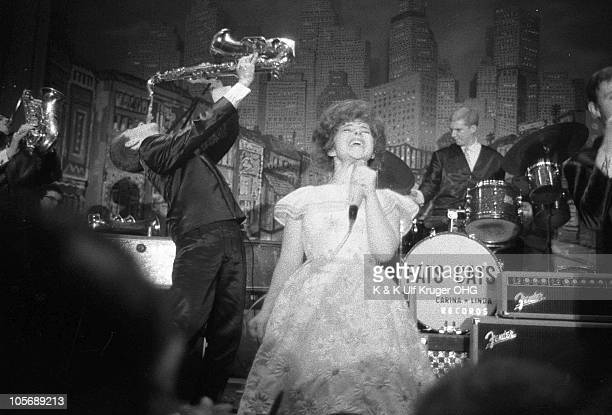 Brenda Lee performs on stage at the Star Club in 1962 in Hamburg Germany