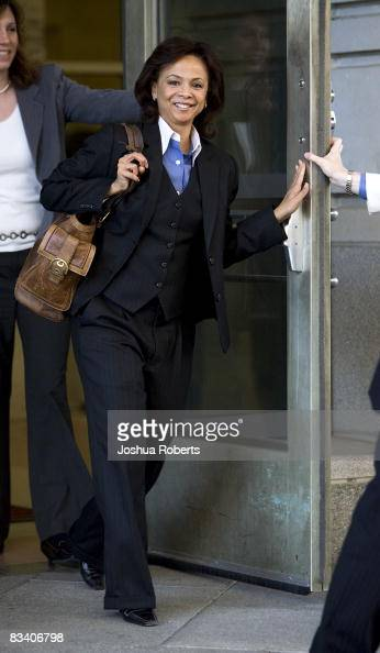 Brenda Morris the prosecutor in US Sen Ted Stevens corruption trial leaves the Federal Courthouse October 23 in Washington DC The jury in Stevens'...