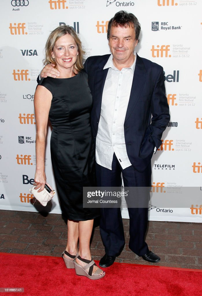 Brenda Rawn (L) and director <a gi-track='captionPersonalityLinkClicked' href=/galleries/search?phrase=Neil+Jordan&family=editorial&specificpeople=224046 ng-click='$event.stopPropagation()'>Neil Jordan</a> attend the 'Byzantium' premiere during the 2012 Toronto International Film Festival at Ryerson Theatre on September 9, 2012 in Toronto, Canada.