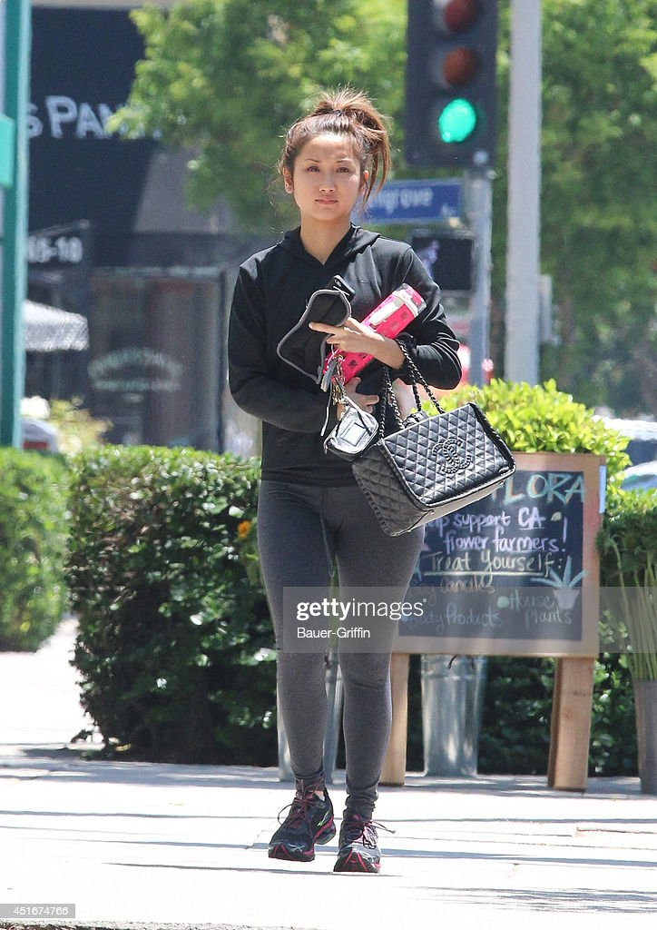 <a gi-track='captionPersonalityLinkClicked' href=/galleries/search?phrase=Brenda+Song&family=editorial&specificpeople=208161 ng-click='$event.stopPropagation()'>Brenda Song</a> is seen in Los Angeles on July 03, 2014 in Los Angeles, California.