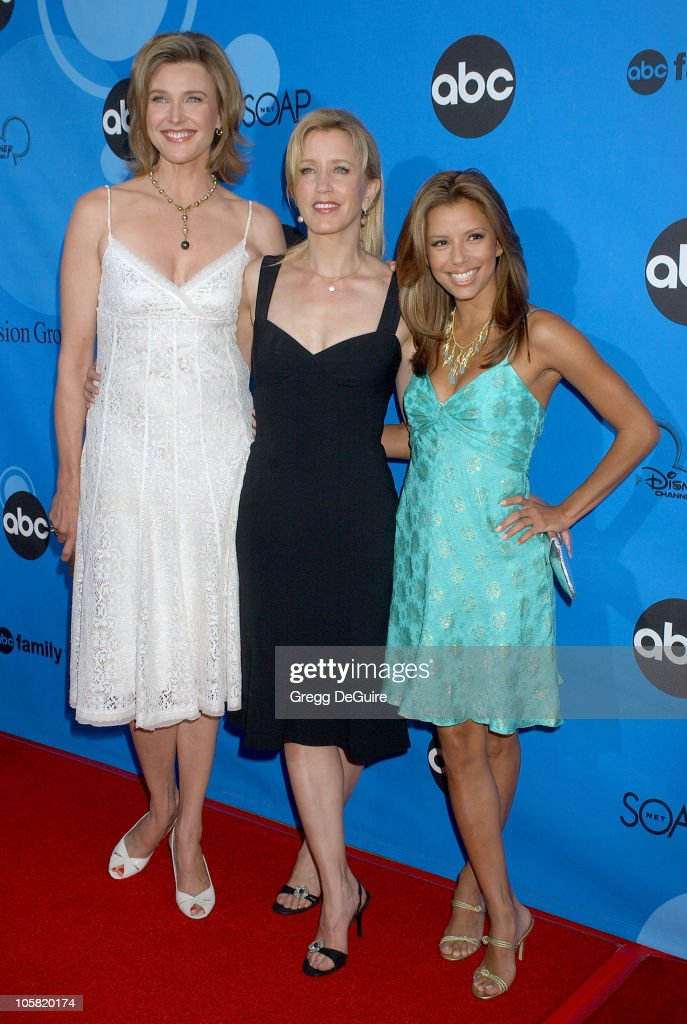 Brenda Strong Felicity Huffman and Eva Longoria during ABC All Star Party 2006 Arrivals at Rose Bowl in Pasadena California United States