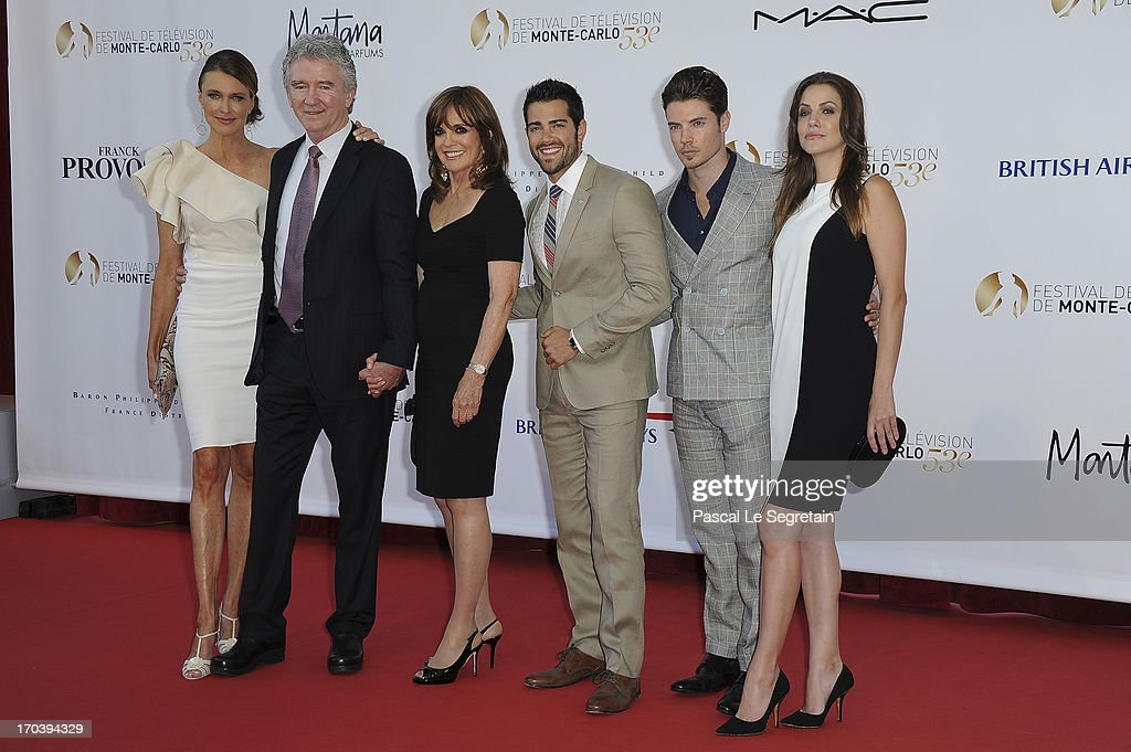 Brenda Strong, Patrick Duffy, Linda Gray, Jesse Metcalfe, Josh Henderson and Julie Gonzalo attend the 'Dallas' photocall during the 53rd Monte-Carlo TV Festival on June 12, 2013 in Monte-Carlo, Monaco.