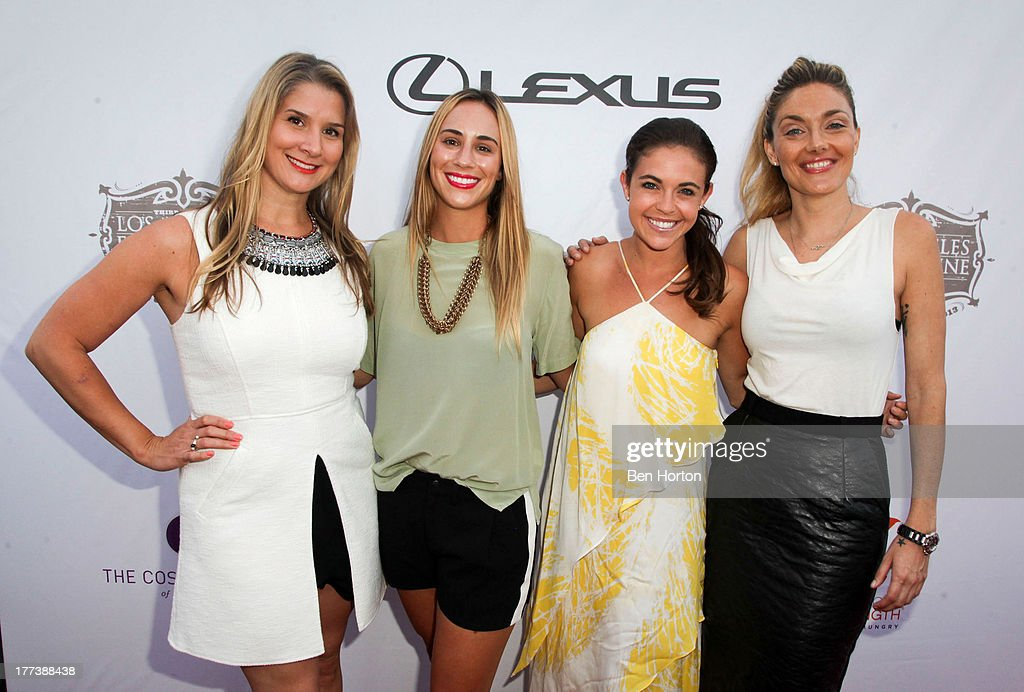 Brenda Urban, Kat Odell, Jessica Miller and Waylynn Lucas attend the Festa Italiana with Giada de Laurentiis opening night celebration of the third annual Los Angeles Food & Wine Festival on August 22, 2013 in Los Angeles, California.