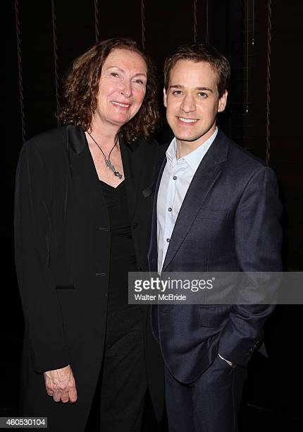 Brenda Wehle and TR Knight attend the Opening Night After Party for 'Pocatello' at Heartland Brewery on December 15 2014 in New York City