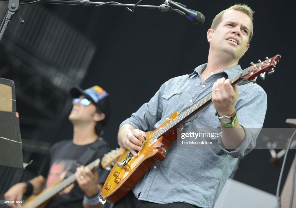 Brendan Bayliss of Umphrey's McGee performs during the 2014 Bonnaroo Music & Arts Festival on June 13, 2014 in Manchester, Tennessee.