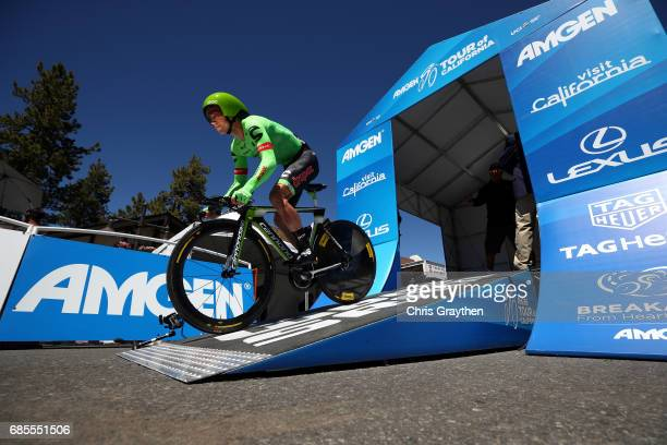 Brendan Canty of Australia riding for CannondaleDrapac Pro Cycling rides during stage five of the AMGEN Tour of California from Ontario to Mt Baldy...