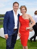 Brendan Cole and Darcey Bussell attend Audi International at Guards Polo Club near Windsor to support England as it faces Argentina for the...