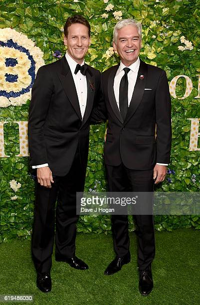 Brendan Cole and Phillip Schofield attend the Daily Mirror Pride of Britain Awards in Partnership with TSB at The Grosvenor House Hotel on October 31...