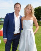 Brendan Cole and Zoe Cole attend Audi International at Guards Polo Club near Windsor to support England as it faces Argentina for the Coronation Cup...