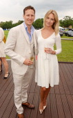 Brendan Cole and Zoe Cole attend day one of the Audi Polo Challenge at Coworth Park Polo Club on May 31 2014 in Ascot England