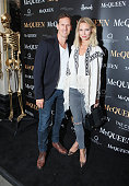 Brendan Cole and Zoe Cole attend the press night performance of 'McQueen' at the Theatre Royal Haymarket on August 27 2015 in London England