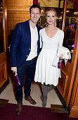 Brendan Cole and Zoe Hobbs attend the VIP performance of 'Kooza' by Cirque Du Soleil at Royal Albert Hall on January 6 2015 in London England