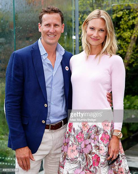 Brendan Cole and Zoe Hobbs attend the VIP preview day of The Chelsea Flower Show at The Royal Hospital Chelsea on May 19 2014 in London England