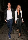 Brendan Cole and Zoe Hobbs attending the Myla 15th Anniversary celebration on October 21 2014 in London England