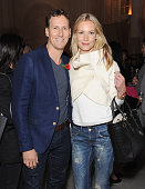 Brendan Cole and Zoe Hobbs attends an after party following the press night performance of 'Dance 'Til Dawn' at The The Waldorf Hilton Hotel on...