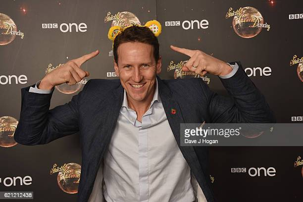 Brendan Cole shows his support for BBC Children in Need at Strictly Come Dancing at Elstree Studios on November 5 2016 in Borehamwood England