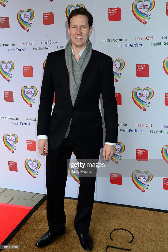Brendan Cole sighted arriving for The Health Lottery Fundraising Event outside Claridges Hotel on March 28, 2013 in London, England.