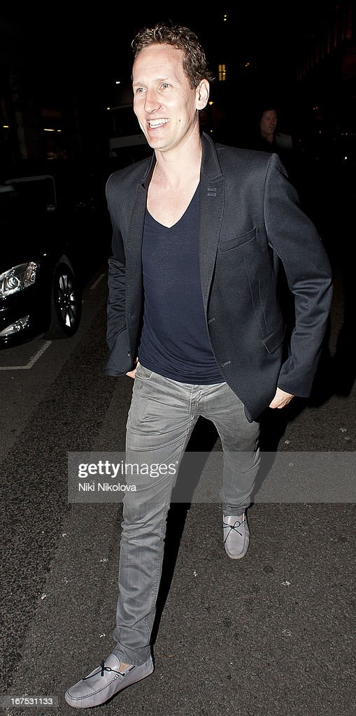 Brendan Cole sighting in Mayfair on April 25, 2013 in London, England.