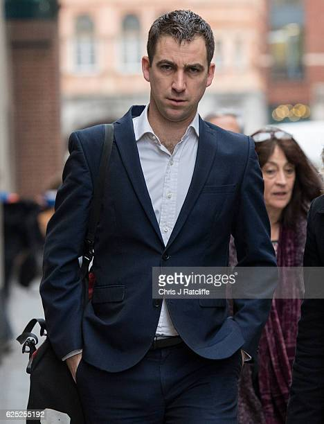 Brendan Cox arrives for Thomas Mair's trial the man accused of murdering his wife Labour MP Jo Cox at Old Bailey on November 23 2016 in London...