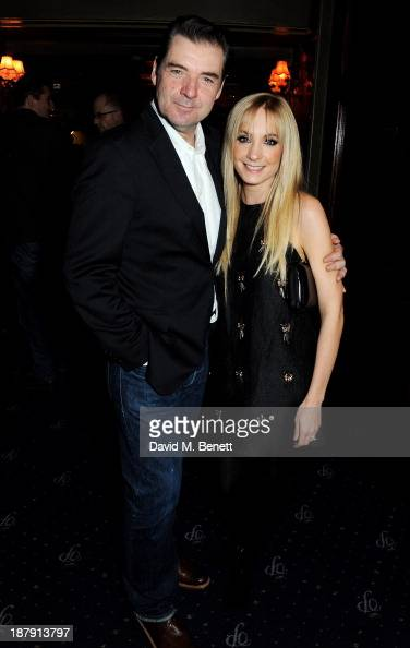 Brendan Coyle and Joanne Froggatt attend an after party celebrating the press night performance of 'Mojo' at Cafe de Paris on November 13 2013 in...