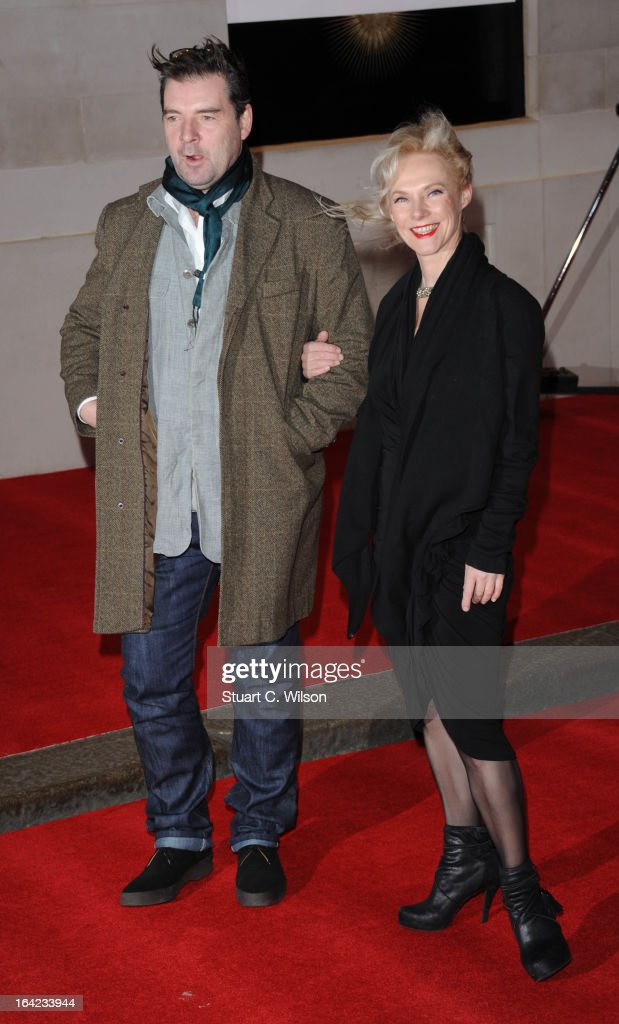 <a gi-track='captionPersonalityLinkClicked' href=/galleries/search?phrase=Brendan+Coyle&family=editorial&specificpeople=7509876 ng-click='$event.stopPropagation()'>Brendan Coyle</a> (L) attends the press night for 'The Book of Mormon' at Prince Of Wales Theatre on March 21, 2013 in London, England.