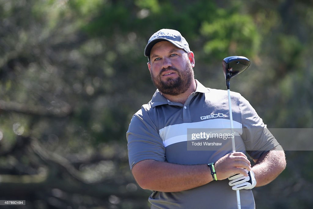 Brendan de Jonge of Zimbabwe hits a tee shot on the second hole during the final round of The McGladrey Classic at Sea Island's Seaside Course on...