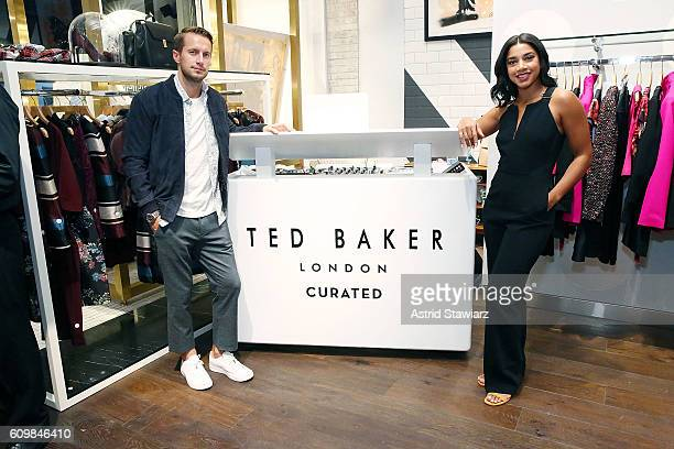 Brendan Fallis and Hannah Bronfman attend Ted Baker Wooster VIP Event on September 22 2016 in New York City