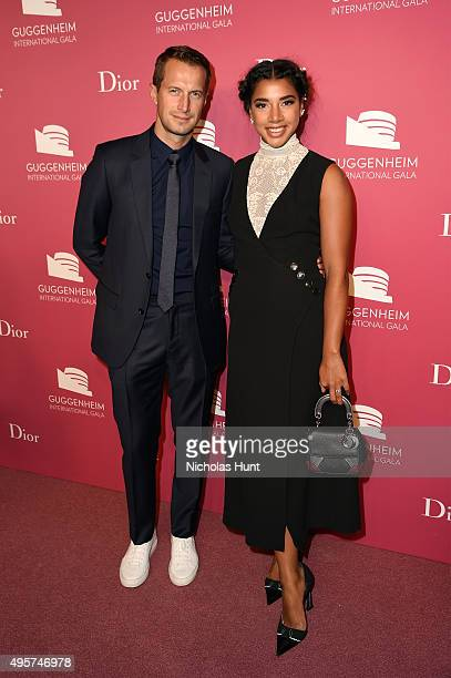 Brendan Fallis and Hannah Bronfman attend the 2015 Guggenheim International Gala PreParty made possible by Dior at Solomon R Guggenheim Museum on...