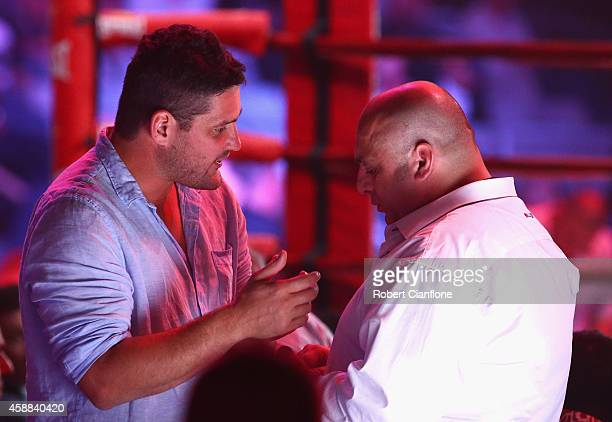 Brendan Fevola is seen at the WBC Silver Light Middleweight fight at Hisense Arena on November 12 2014 in Melbourne Australia