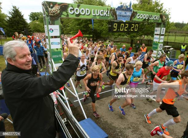 Brendan Foster starts the first ever Stirling Marathon from Blair Drummond Safari Park on a route which takes the 6500 runners via Dunblane and the...