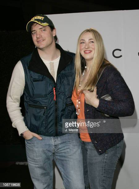 Brendan Fraser and Afton Smith during Marc Jacobs Comes to Los Angeles at Marc Jacobs Store in Los Angeles California United States