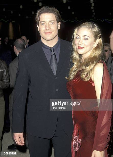 Brendan Fraser and Afton Smith during 'The Mummy' Los Angeles Premiere at Cineplex Odeon Theater in Universal City California United States