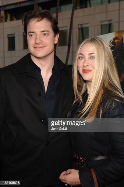 Brendan Fraser and wife Afton Smith during 'Crash' Los Angeles Premiere Red Carpet at The Academy of Motion Picture Arts and Sciences in Los Angeles...