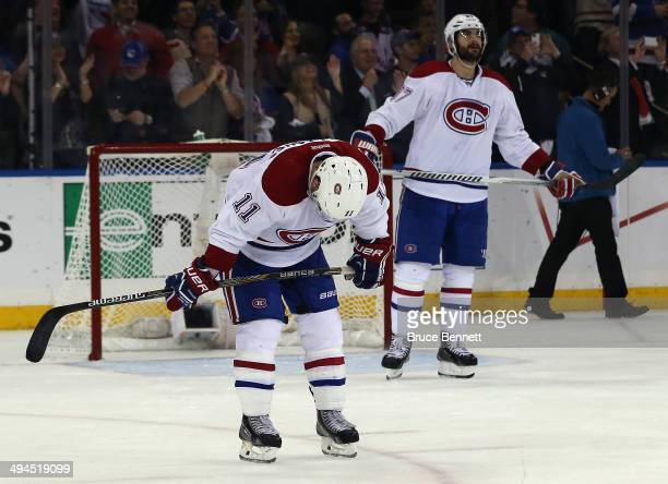 Brendan Gallagher of the Montreal Canadiens looks on after loosing to the New York Rangers in Game Six of the Eastern Conference Final in the 2014...