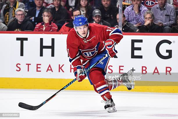 Brendan Gallagher of the Montreal Canadiens skates during the NHL game against the Boston Bruins at the Bell Centre on December 12 2016 in Montreal...